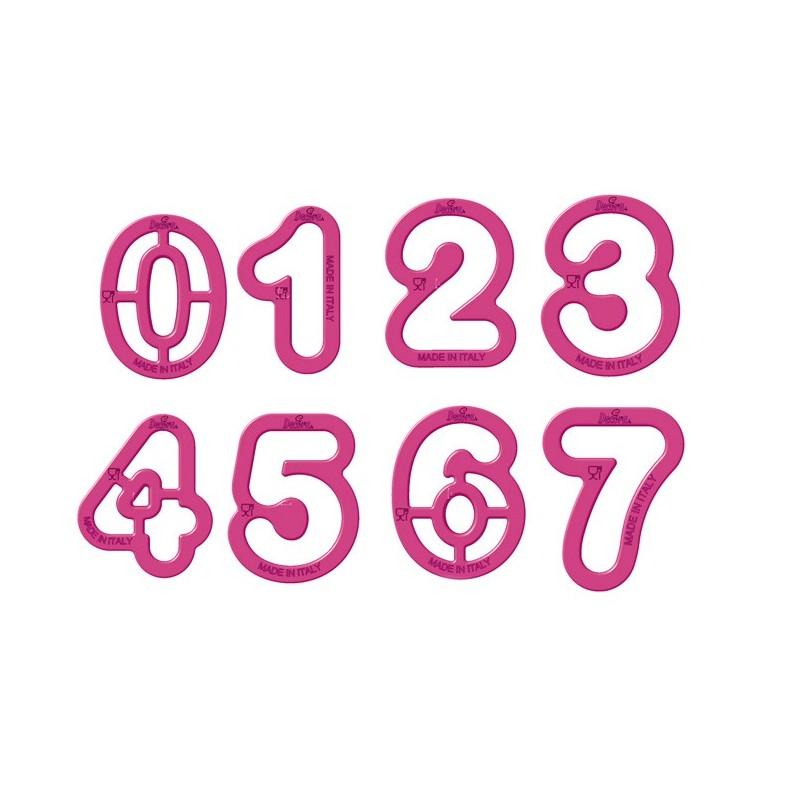 Set 9 tagliapasta numeri Decora - in vendita su Sugarmania.it
