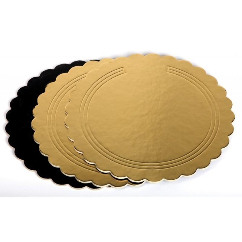 Dischi oro nero kappati rigidi 40 cm - Cartoplast Sud in vendita su Sugarmania.it