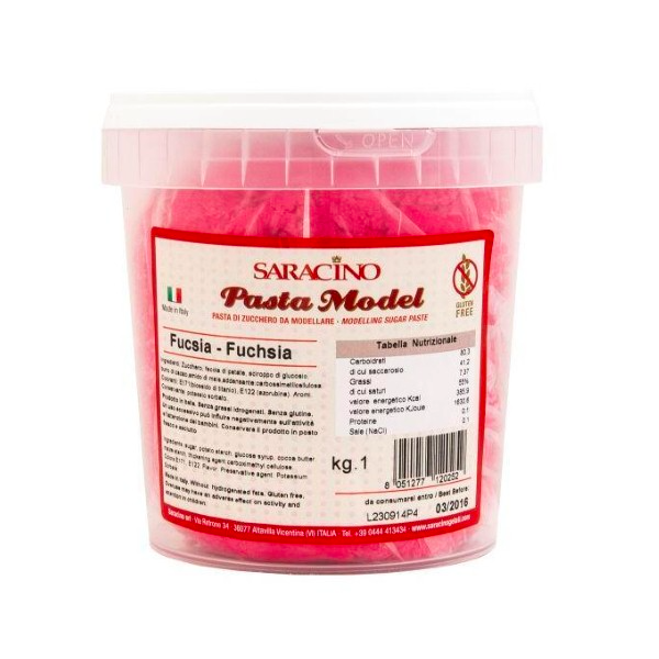 Pasta MODEL FUCSIA Saracino 1 kg - Saracino in vendita su Sugarmania.it