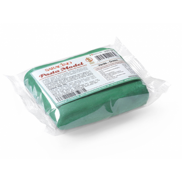 Pasta MODEL VERDE SMERALDO Saracino 250g - in vendita su Sugarmania.it