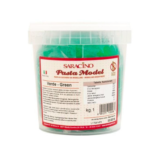 Pasta MODEL VERDE SMERALDO Saracino 1 kg - in vendita su Sugarmania.it