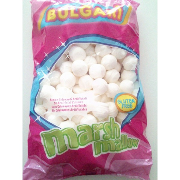 Marshmallow bianchi Bulgari - Palline bianche 900 grammi -  in vendita su Sugarmania.it