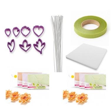 Kit OFFERTA per creare fiori di peonia in pasta di zucchero