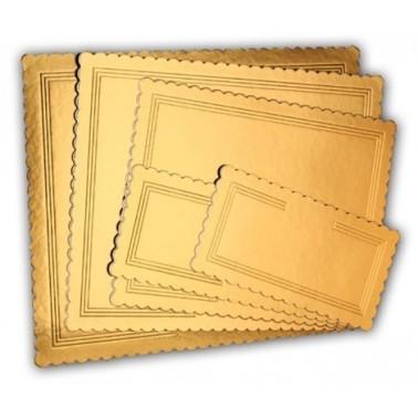 Tavolette rettangolari oro nero kappate rigide 36 x 46 cm - Vica in vendita su Sugarmania.it