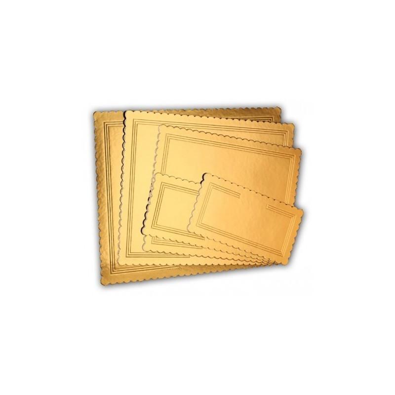 Tavolette rettangolari oro nero kappate rigide 40 x 50 cm - Cartoplast Sud in vendita su Sugarmania.it