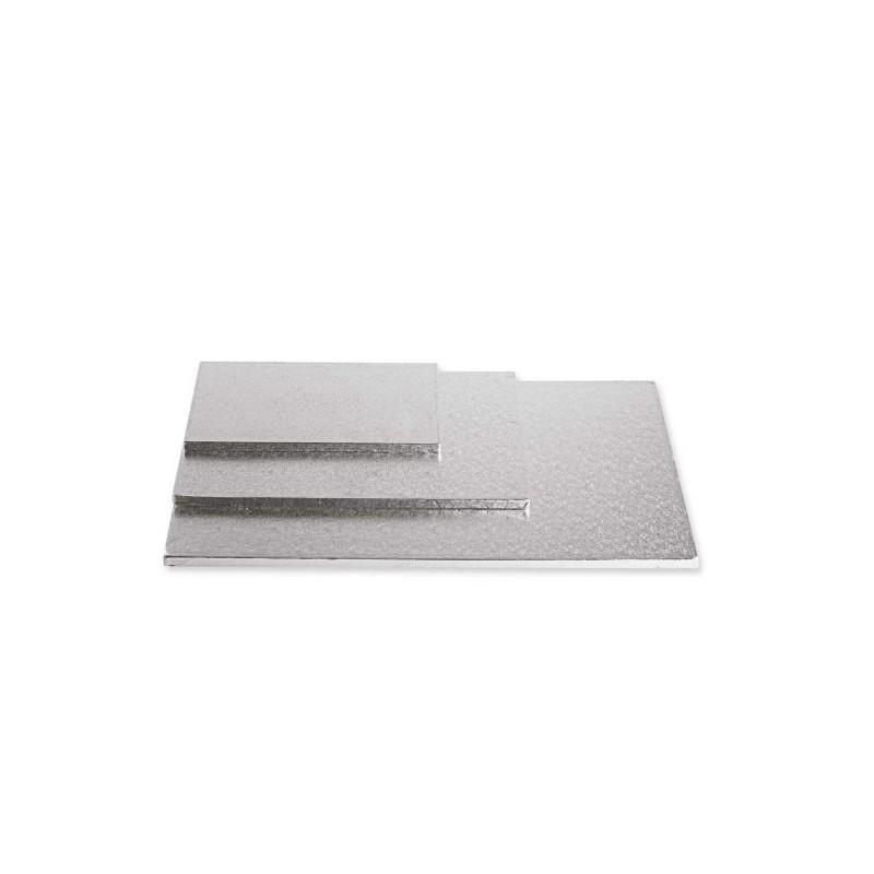 Cake Board rettangolare Argento 30 x 40 x 1,2 cm - Decora in vendita su Sugarmania.it