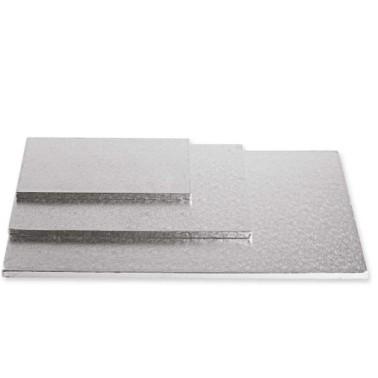 Cake Board Rettangolare Argento 40 x 60 x 1,2 cm - Decora in vendita su Sugarmania.it