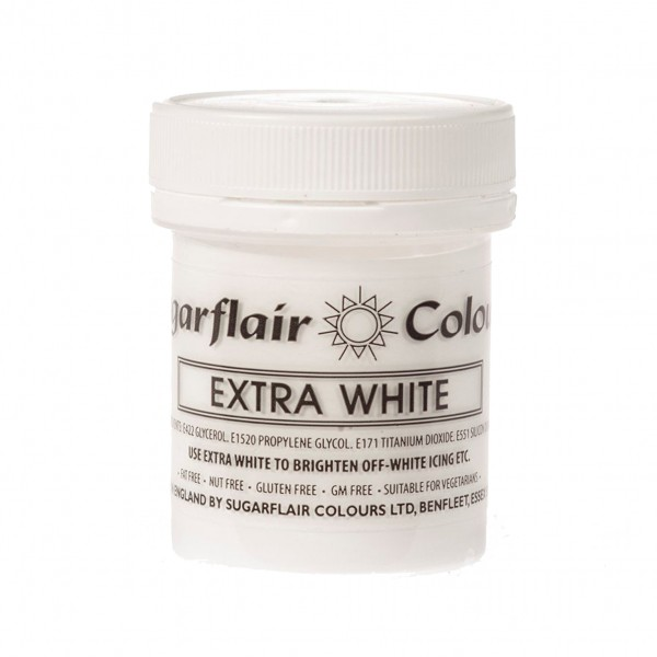 Sugarflair Paste Colours - Extra White - 50g - Sugarflair in vendita su Sugarmania.it