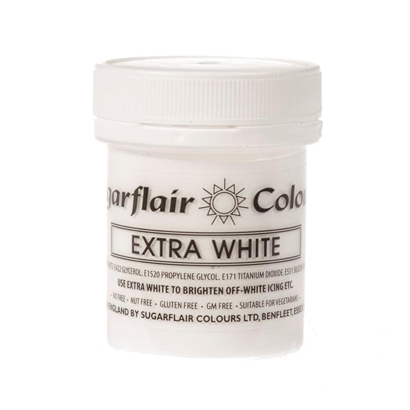 Sugarflair Paste Colours - Extra White - 50g - Sugarflair in vendita su Sugarmania.it