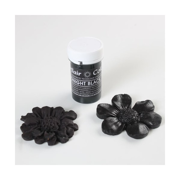 Sugarflair Midnight black Pastel Paste Colour - 25g - Sugarflair in vendita su Sugarmania.it