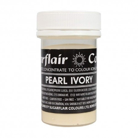 Sugarflair pearl Ivory Pastel Paste Colour - 25g - Sugarflair in vendita su Sugarmania.it