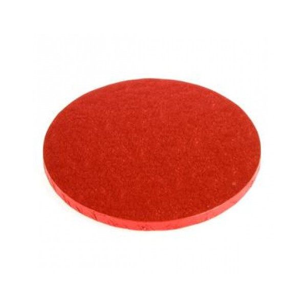 Cake Board TONDO Rosso Decora - h 1,2 cm / Ø assortiti - Decora in vendita su Sugarmania.it