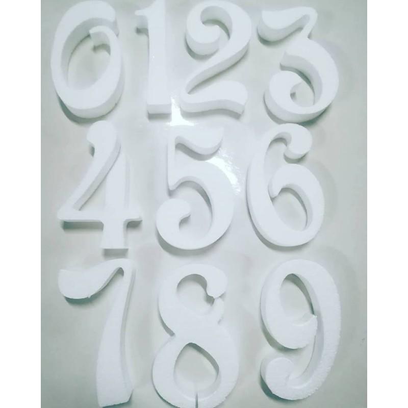 Numeri di polistirolo per torte altezza 20 cm -  in vendita su Sugarmania.it