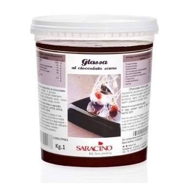 Glassa a specchio al cioccolato scuro Saracino 1 kg - Saracino in vendita su Sugarmania.it