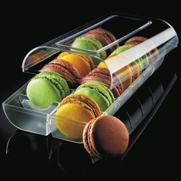 Scatolina per 12 macarons trasparente rigida - Silikomart in vendita su Sugarmania.it