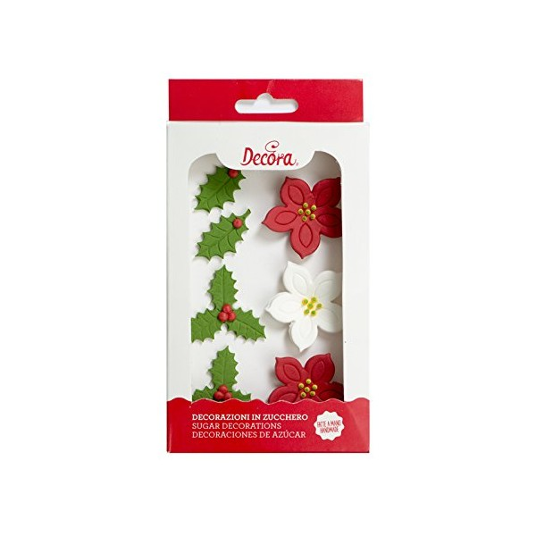 Set 6 decorazioni in zucchero Misto Natale Decora - in vendita su Sugarmania.it