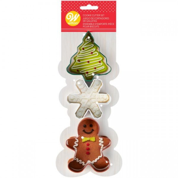 Set tre tagliapasta mix Natale Wilton - in vendita su Sugarmania.it