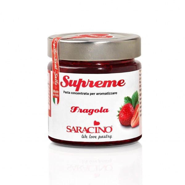 Pasta aromatizzante Fragola Le Supreme Saracino 200 g - Saracino in vendita su Sugarmania.it