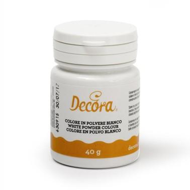 Colorante alimentare bianco E171 in polvere Decora 40 g - Decora in vendita su Sugarmania.it