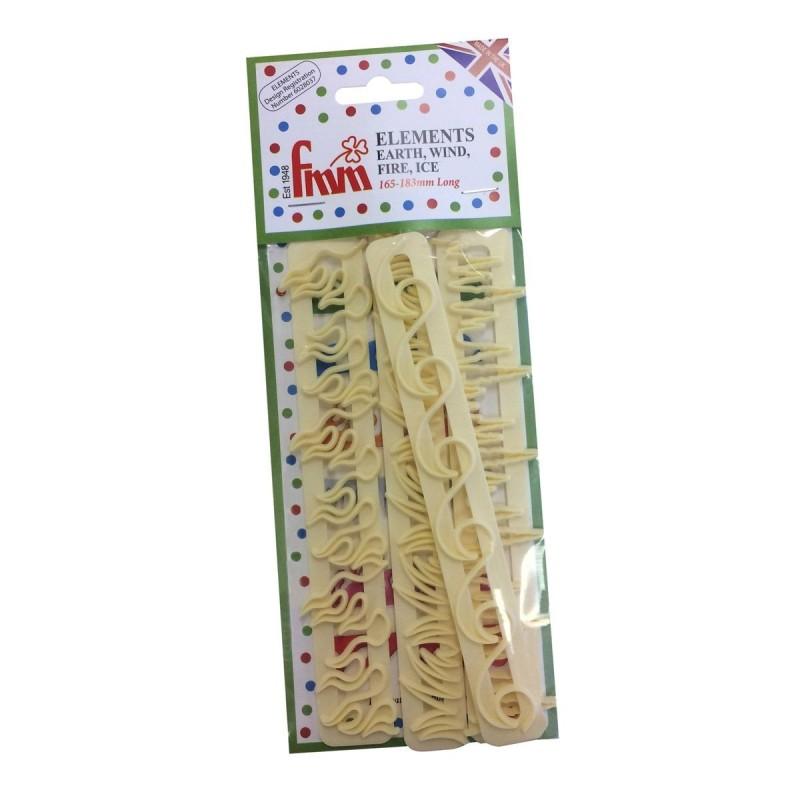 Set 4 tagliapasta FMM elementi: Ghiaccio Acqua Fuoco Erba - FMM sugarcraft in vendita su Sugarmania.it