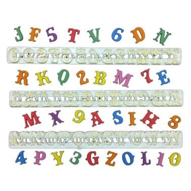 Set lettere Circo maiuscole più set numeri - FMM sugarcraft in vendita su Sugarmania.it