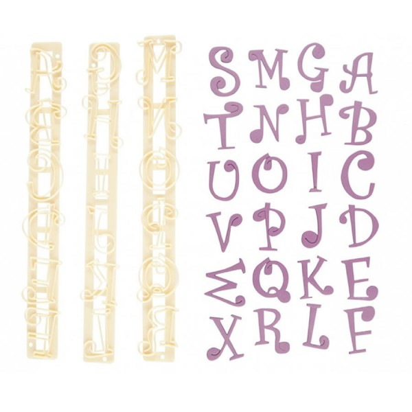 Set tagliapasta lettere e numeri Funky -  in vendita su Sugarmania.it