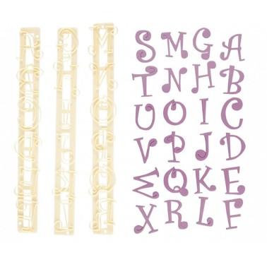 Set tagliapasta lettere e numeri Funky - FMM sugarcraft in vendita su Sugarmania.it