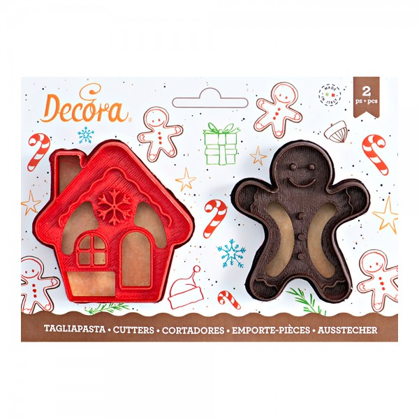 Set 2 tagliapasta gingerbread omino e casa - Decora in vendita su Sugarmania.it