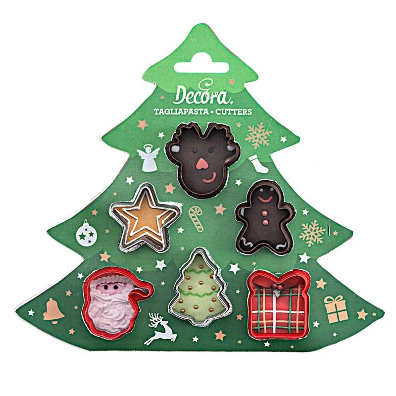 Set 6 mini tagliapasta natalizi - Decora in vendita su Sugarmania.it