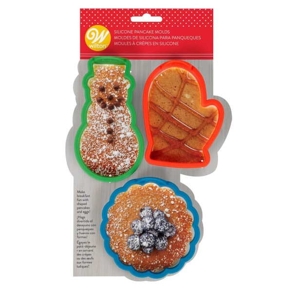 Set 3 formine natalizie per pancake Wilton - Wilton in vendita su Sugarmania.it