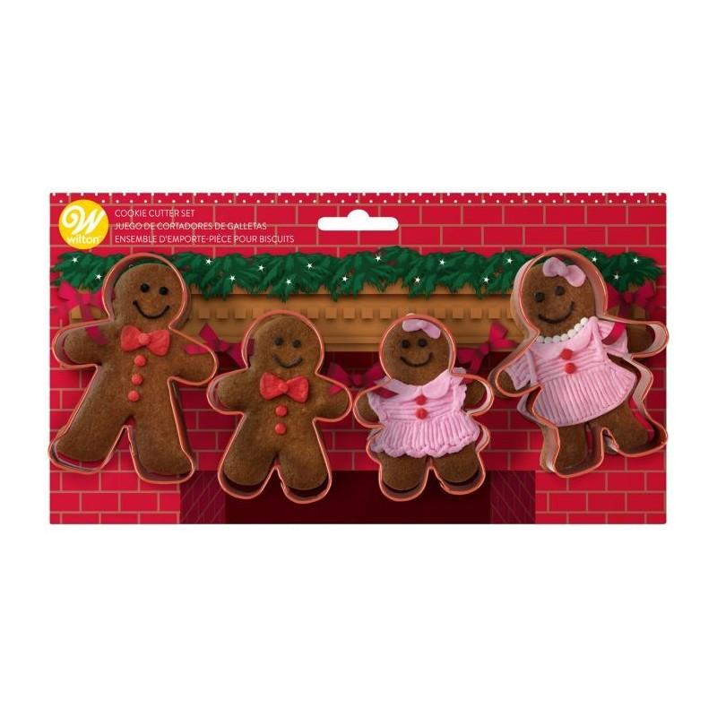 Set 4 tagliapasta Wilton gingerbread family - Wilton in vendita su Sugarmania.it