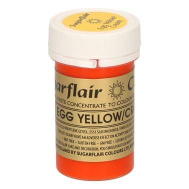 Sugarflair Paste Colour EGG YELLOW/CREAM, 25gr. - Sugarflair in vendita su Sugarmania.it