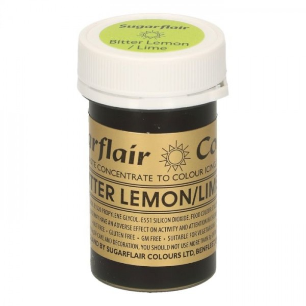 Sugarflair Paste Colour BITTER LEMON/LIME, 25gr. - Sugarflair in vendita su Sugarmania.it