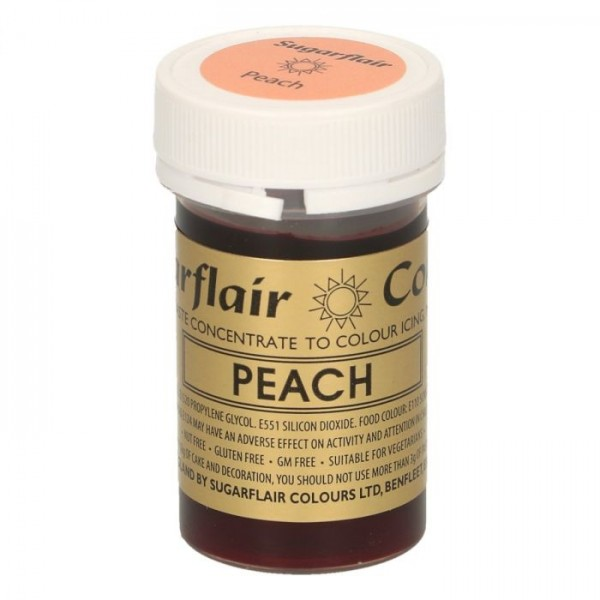 Sugarflair Paste Colour PEACH, 25gr. - Sugarflair in vendita su Sugarmania.it