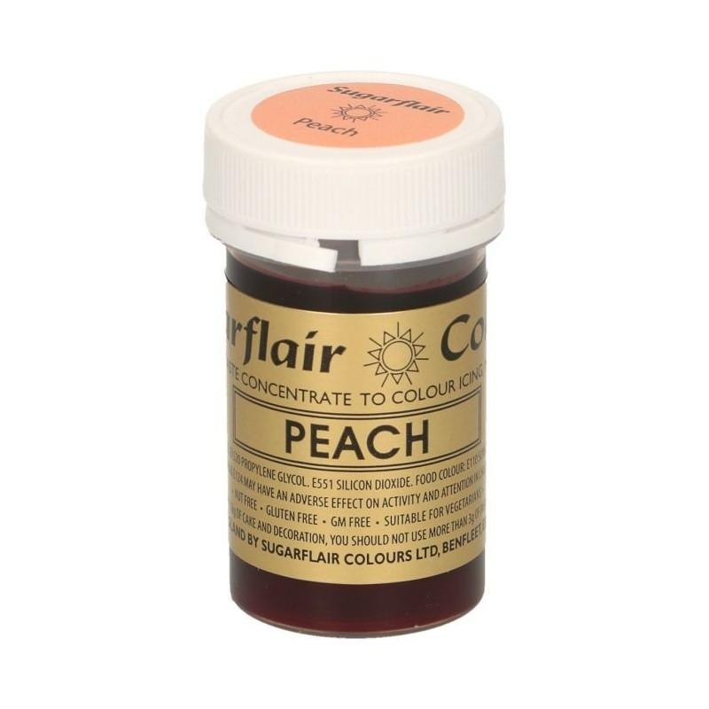 Sugarflair Paste Colour PEACH, 25gr. - Sugarflair in vendita su Sugarmania.it