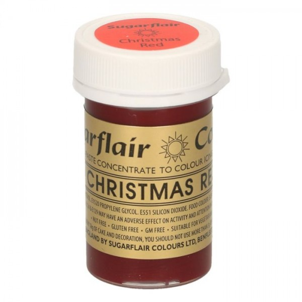 Sugarflair Paste Colour CHRISTMAS RED, 25gr - Sugarflair in vendita su Sugarmania.it