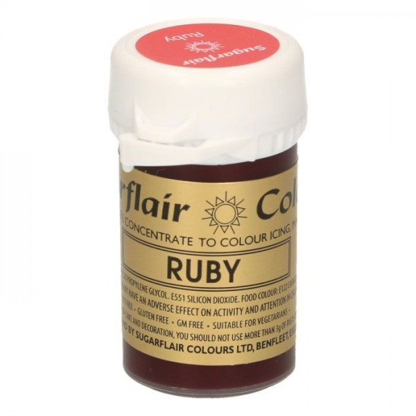 Sugarflair Paste Colour RUBY, 25gr. - Sugarflair in vendita su Sugarmania.it