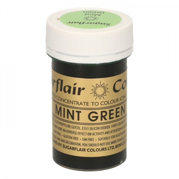 Sugarflair Paste Colour MINT GREEN, 25gr. - Sugarflair in vendita su Sugarmania.it