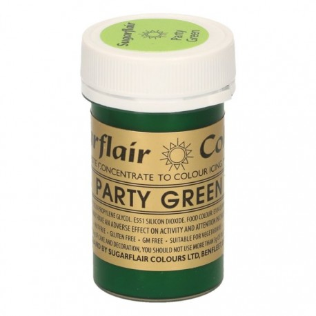 Sugarflair Paste Colour PARTY GREEN, 25gr. - Sugarflair in vendita su Sugarmania.it