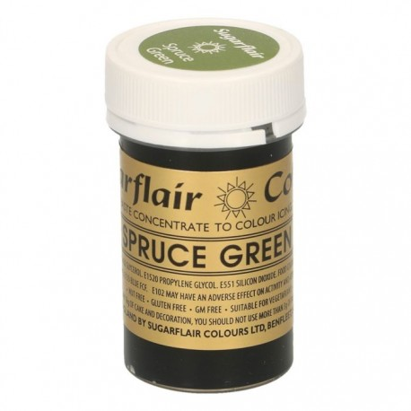 Sugarflair Paste Colour SPRUCE GREEN, 25gr. - Sugarflair in vendita su Sugarmania.it
