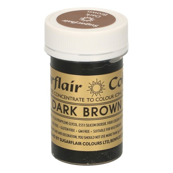 Sugarflair Paste Colour DARK BROWN, 25gr. - Sugarflair in vendita su Sugarmania.it