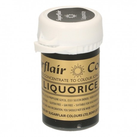 Sugarflair Paste Colour LIQUORICE/BLACK, 25gr. - Sugarflair in vendita su Sugarmania.it