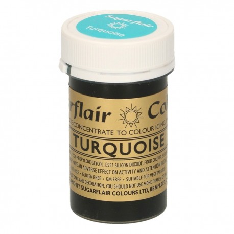 Sugarflair Paste Colour Turchese 25gr. - Sugarflair in vendita su Sugarmania.it