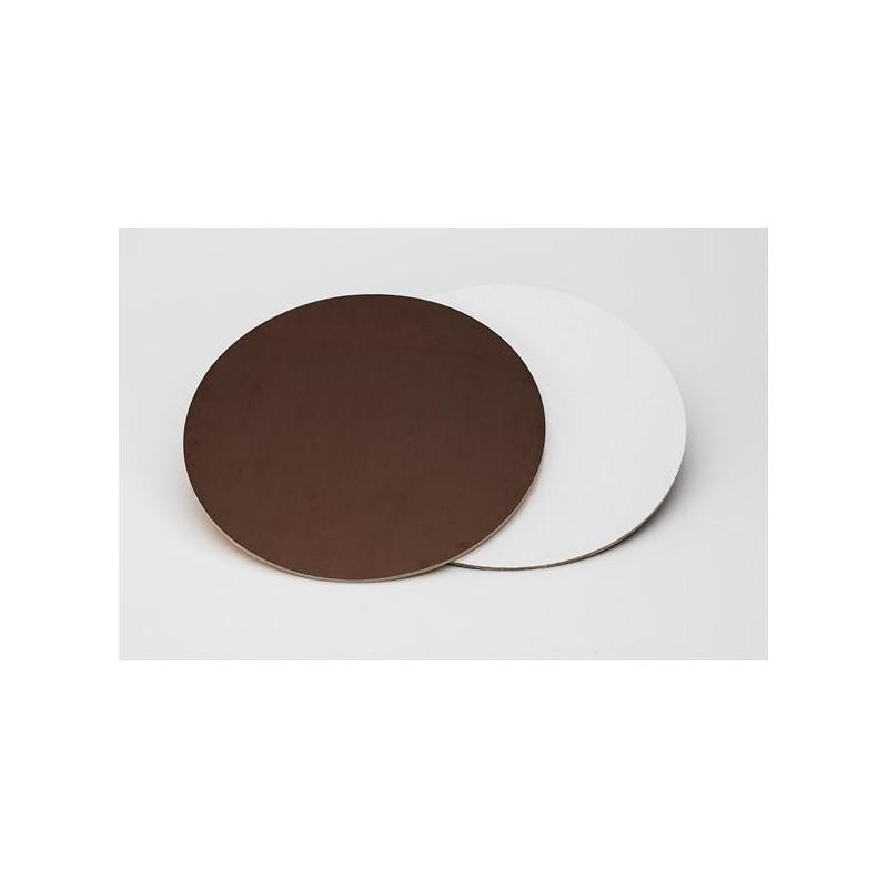 Sottotorta rigido liscio 22 cm marrone bianco -  in vendita su Sugarmania.it