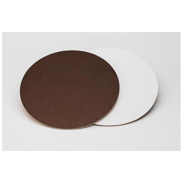 Sottotorta rigido liscio 28 cm marrone bianco -  in vendita su Sugarmania.it