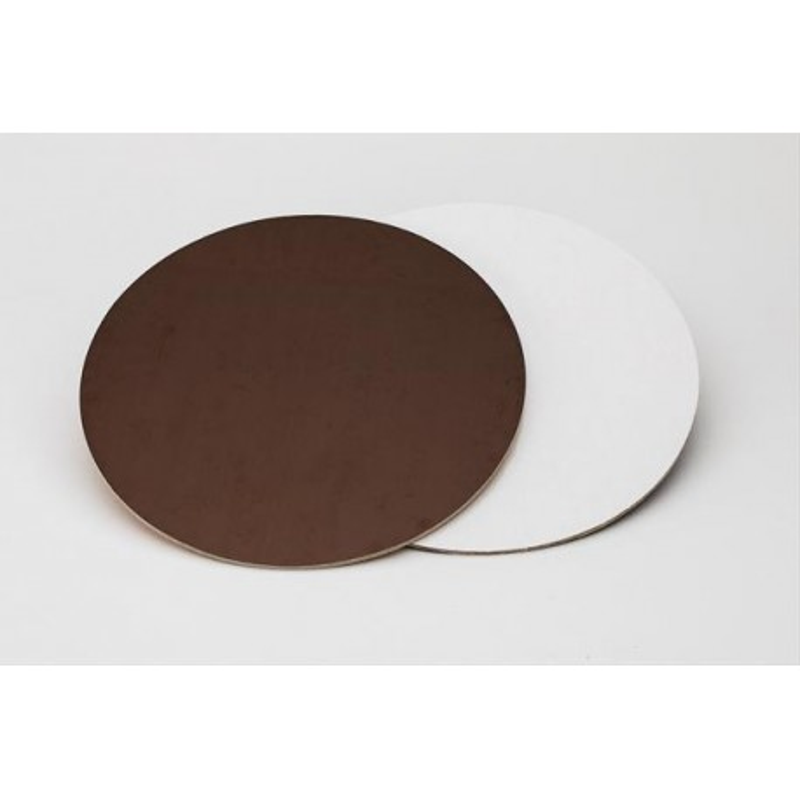 Sottotorta rigido liscio 30 cm marrone bianco -  in vendita su Sugarmania.it