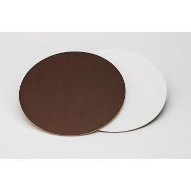 Sottotorta rigido liscio 40 cm marrone bianco -  in vendita su Sugarmania.it