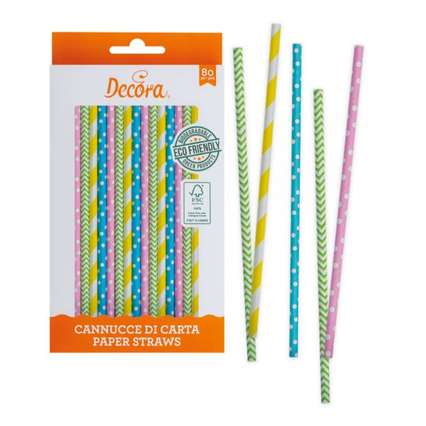 Cannucce spring in carta bio 80 pezzi Decora -  in vendita su Sugarmania.it