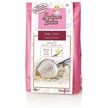 Preparato per gelato alla vaniglia 200 g Madam Loulou - Madam Loulou in vendita su Sugarmania.it