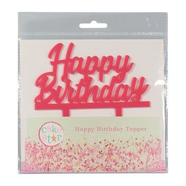 Cake Topper Happy Birthday rosa - Culpitt in vendita su Sugarmania.it
